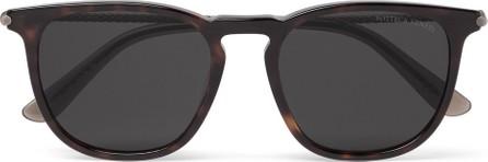 Bottega Veneta Square-Frame Tortoiseshell Acetate and Gunmetal-Tone Sunglasses