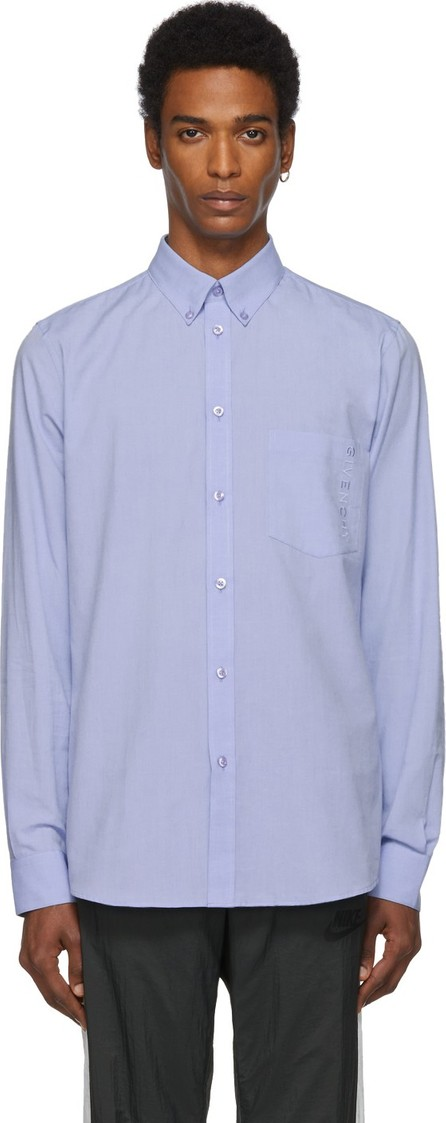 Givenchy Blue Embroidered Shirt