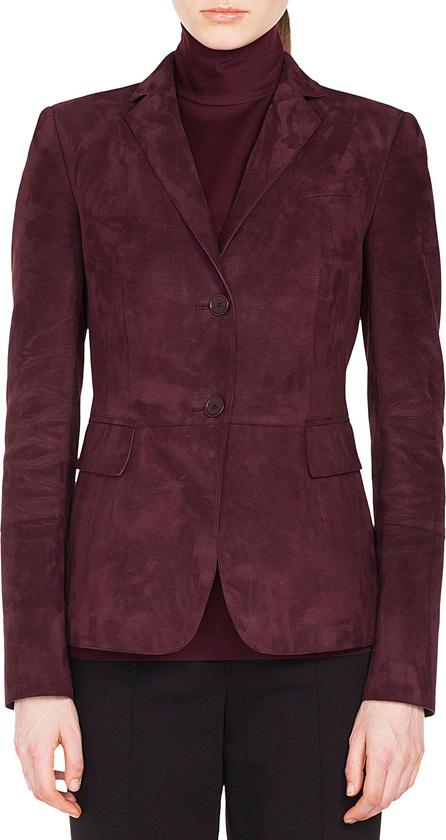 Akris Punto Notched-Lapel 2-Button Suede Leather Blazer