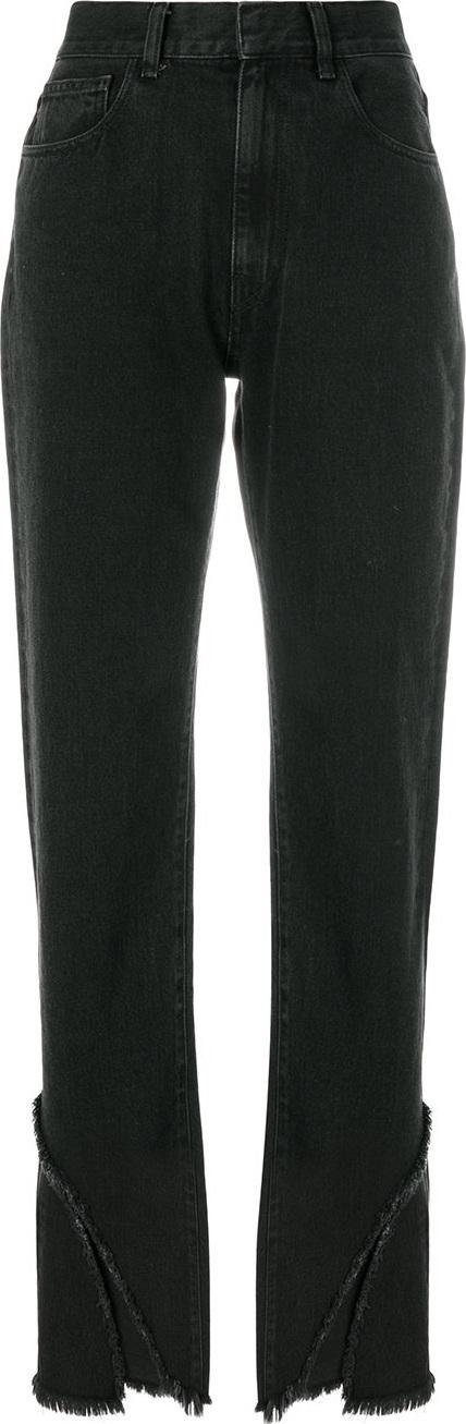 Ssheena Fringed straight-leg jeans