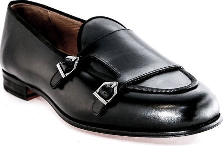 Romero + McPaul Men's Belgian Double-Monk Leather Loafers