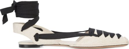 Altuzarra ankle tie ballerina shoes