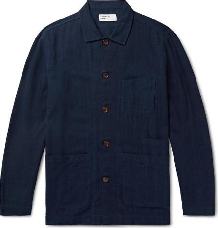 Universal Works Bakers Slub-Cotton Overshirt