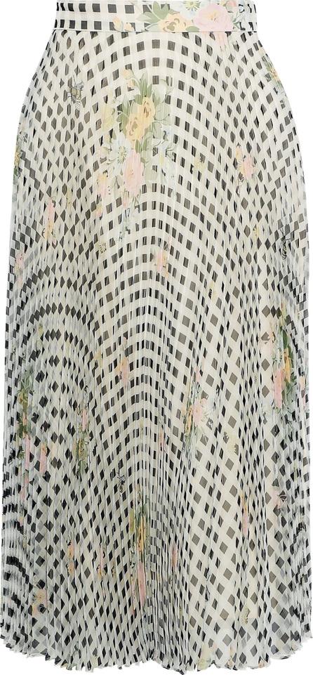 Christopher Kane Pleated printed silk-organza skirt