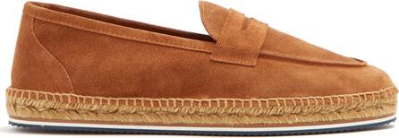 Castaner Suede penny loafer espadrilles