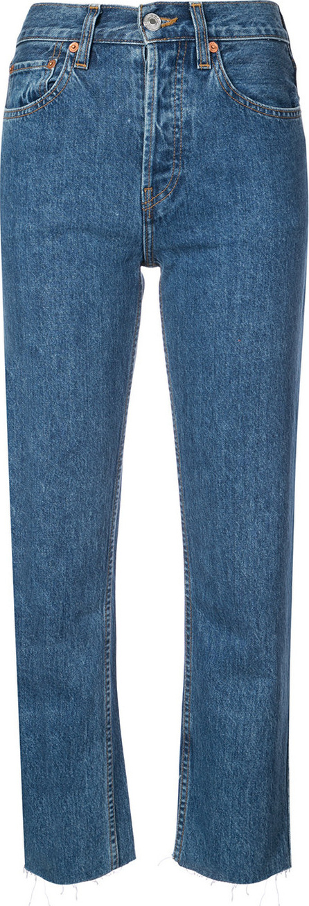 RE/DONE Cropped high waisted jeans
