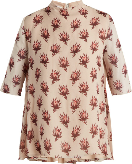 Giambattista Valli Floral-print silk-georgette blouse