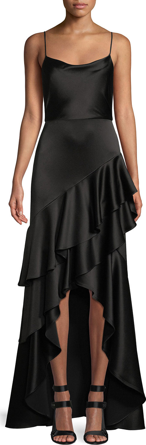 Alice + Olivia - Lauralei Ruffle High-Low Gown
