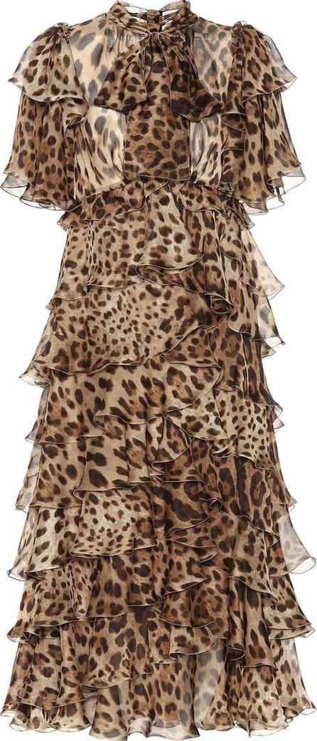 Dolce & Gabbana Leopard silk chiffon dress