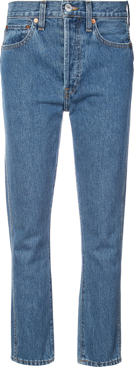 RE/DONE Cropped straight jeans