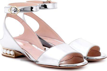 Nicholas Kirkwood Lola Pearl metallic sandals