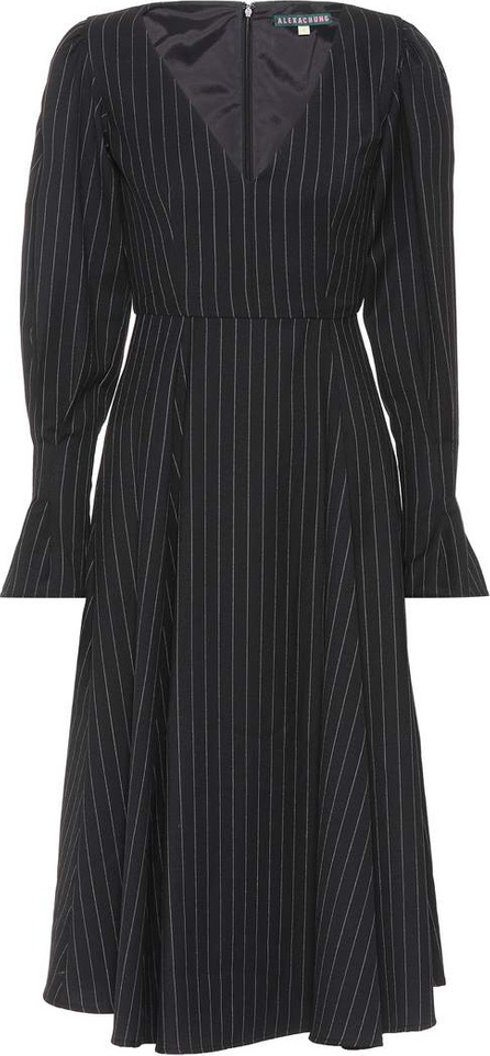 Alexachung Pinstripe wool-blend dress