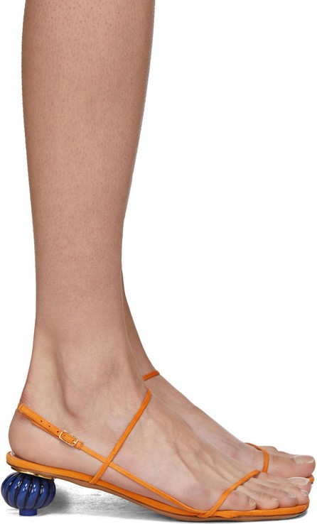 Jacquemus Orange 'Les Sandales Manosque' Heeled Sandals