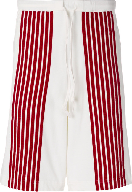 Dima Leu Stripe panel bermuda shorts
