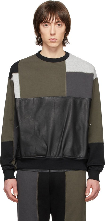 GR-Uniforma Khaki Patchwork Sweatshirt