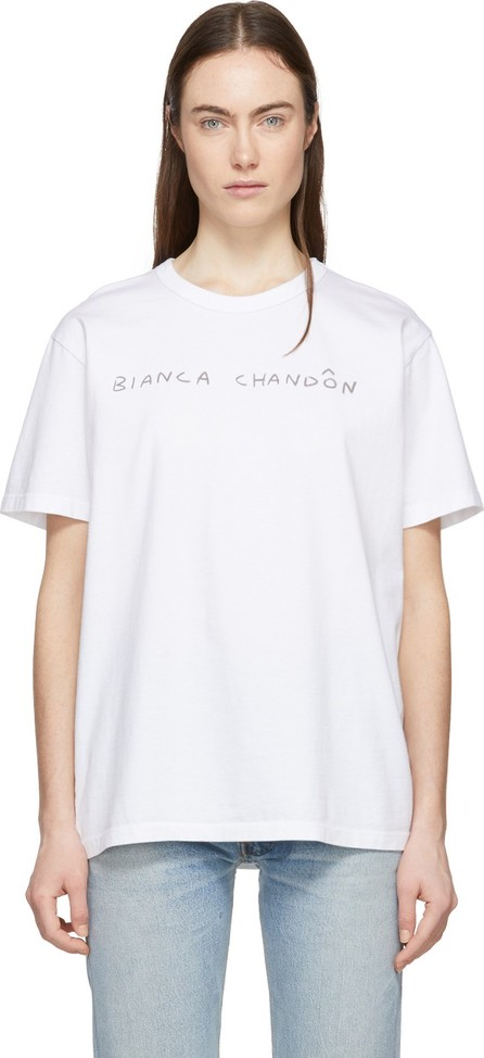 Bianca Chandon White Handwritten Logotype T-Shirt