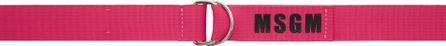 MSGM Pink Ribbon Logo Belt