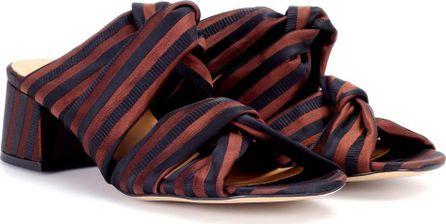 Ganni Amelie striped sandals
