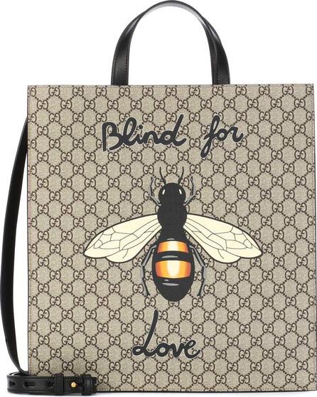 Gucci Bee printed GG Supreme tote