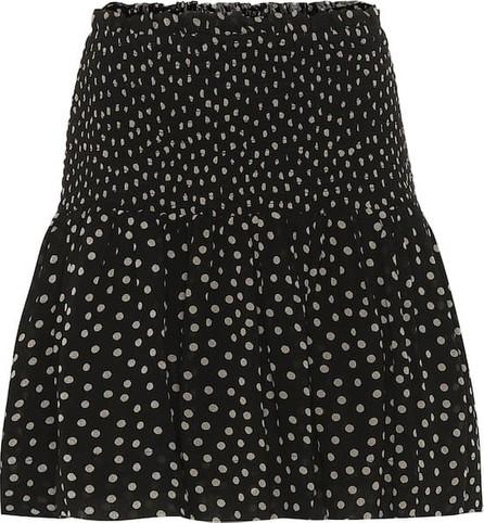 Ganni Polka-dot georgette skirt