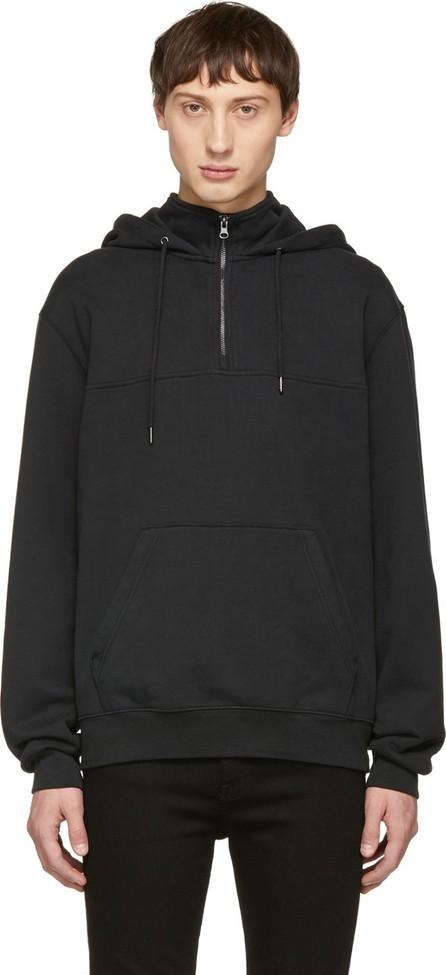 FRAME DENIM Black Half-Zip Hoodie