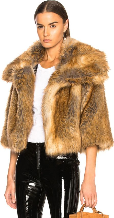 Nili Lotan Garbo Faux Fur Coat