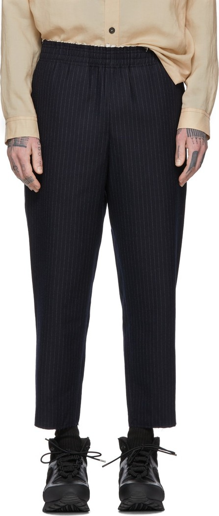 Camiel Fortgens Navy & White Pinstripe Grandma Trousers