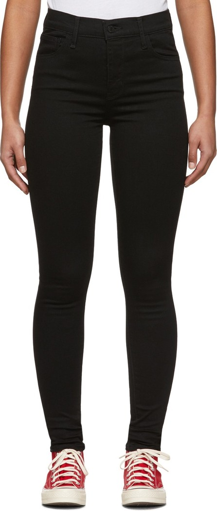LEVI'S Black 720 High-Rise Super Skinny Jeans