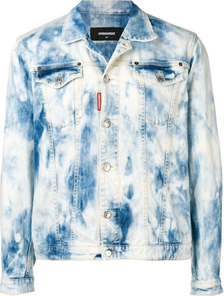 DSQUARED2 distressed bleached jacket