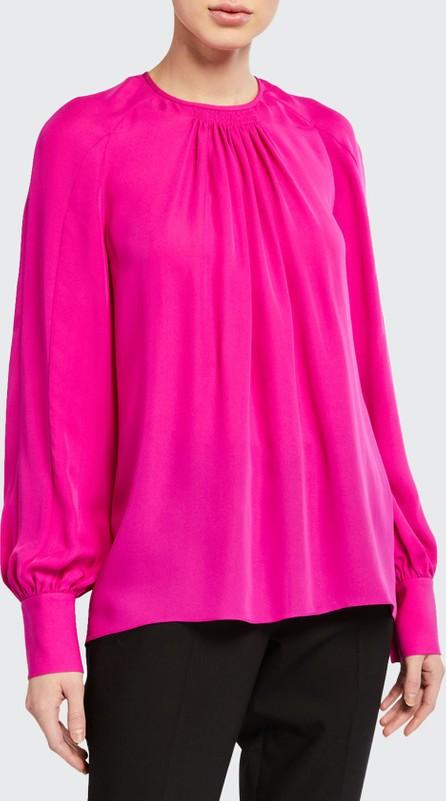 Elie Tahari Eliza Long-Sleeve Silk Shirt
