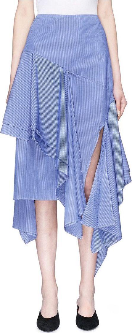 C/MEO Collective 'Day Break' asymmetric ruffle stripe poplin skirt