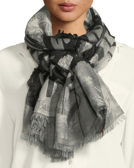 Burberry London England Logo Fil-Coupe Scarf