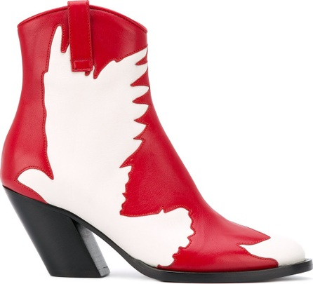 A.F.Vandevorst cut-off bird mid-calf boots