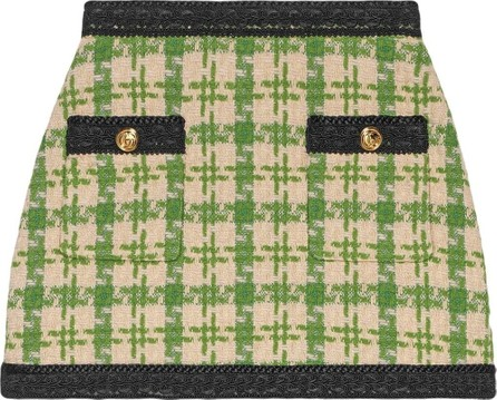 Gucci Houndstooth mini skirt