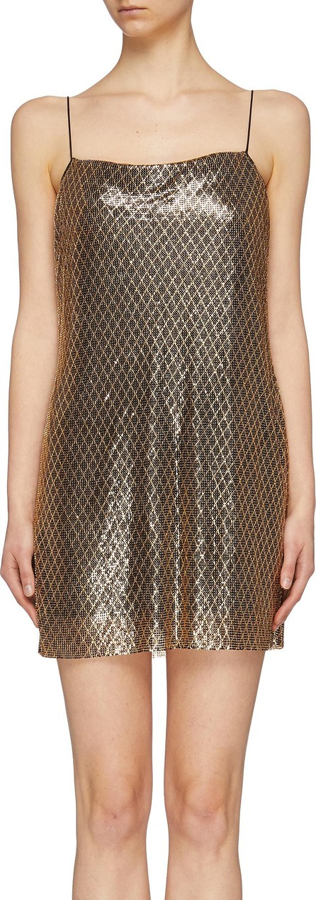 Alice + Olivia 'Harmony' chainmail mini slip dress