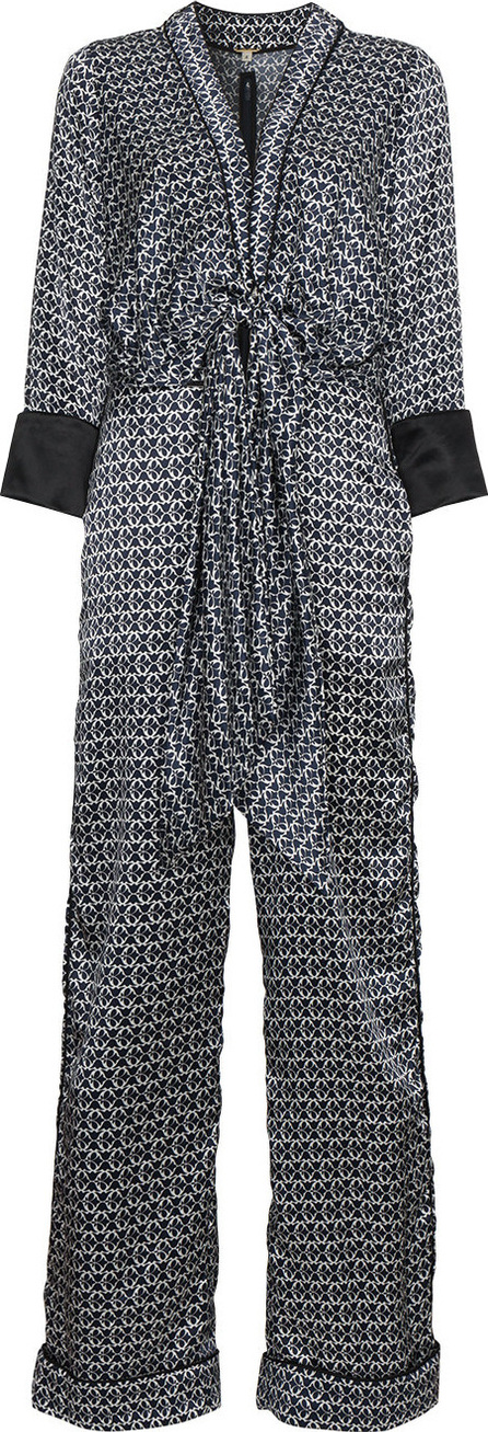 Johanna Ortiz Silk printed jumpsuit with tie front