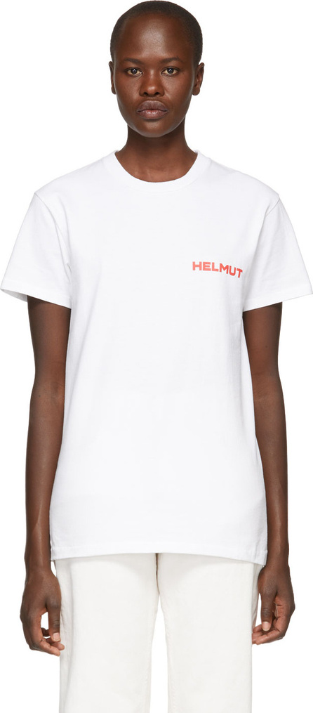 Helmut Lang SSENSE Exclusive White & Red 'Little Tee With Print' T-Shirt