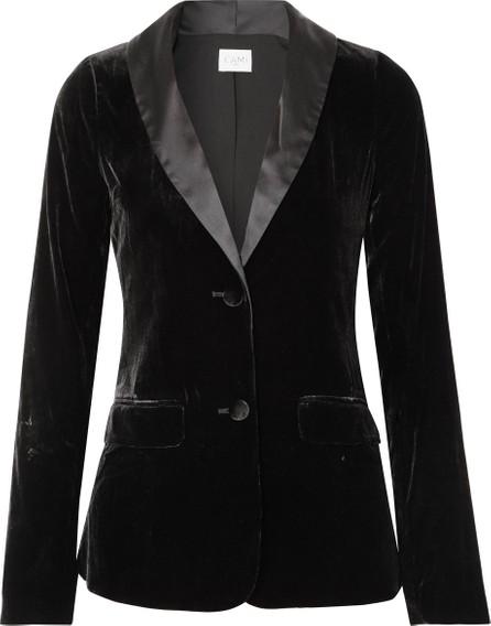 CAMI NYC The Emmie stretch-silk charmeuse-trimmed velvet blazer