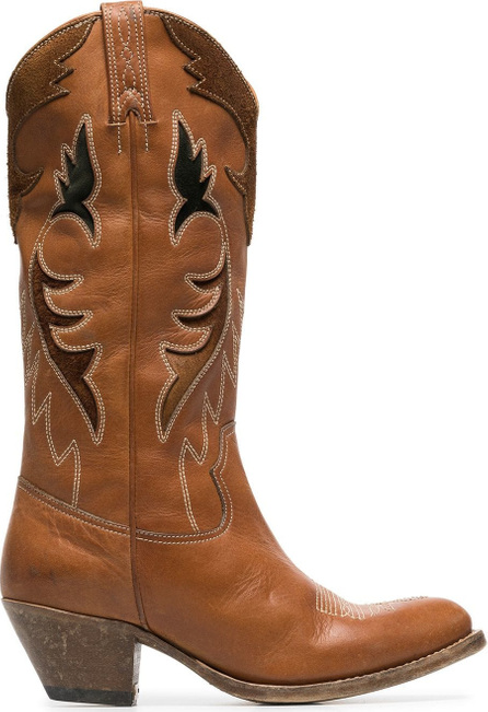 Golden Goose Deluxe Brand Leather knee high cowboy boots