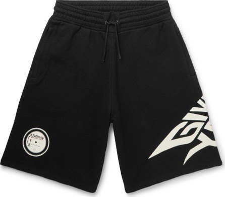 Givenchy Glow-in-the-Dark Logo-Print Loopback Cotton-Jersey Shorts