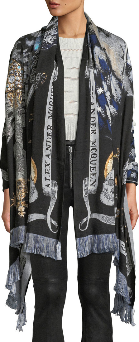 Alexander McQueen Night Fairy Fringe Shawl