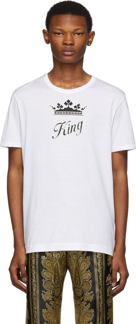 Dolce & Gabbana White 'King' T-Shirt