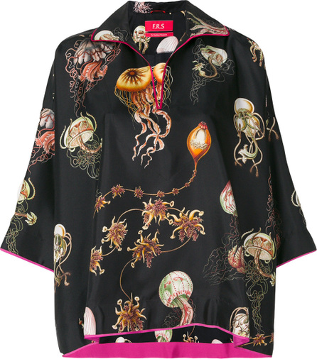 F.R.S For Restless Sleepers Sealife print blouse