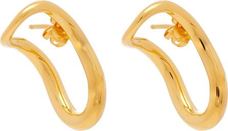 Charlotte Chesnais Slide 18kt gold-plated earrings