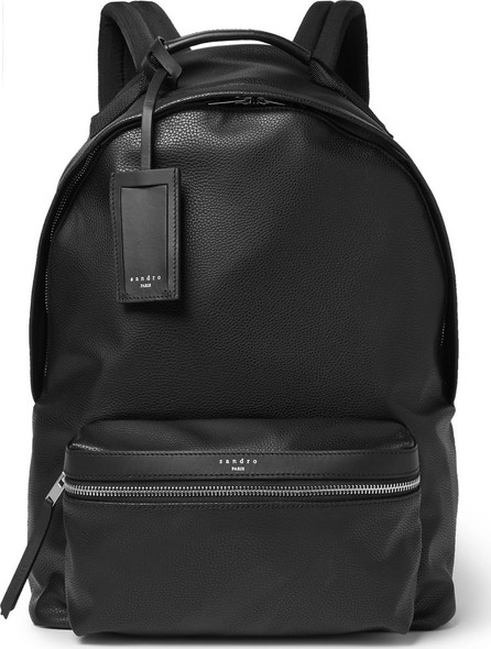 Sandro Faux Textured-Leather Backpack