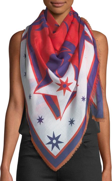 Givenchy Star Silk-Blend Pashmina