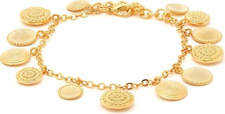 Joelle Kharrat Charm gold-plated ankle bracelet