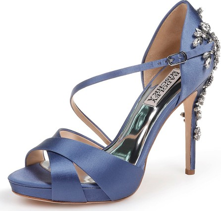 Badgley Mischka Fame Satin Platform Sandals