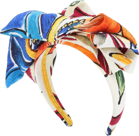 Dolce & Gabbana Cotton and silk-blend headband