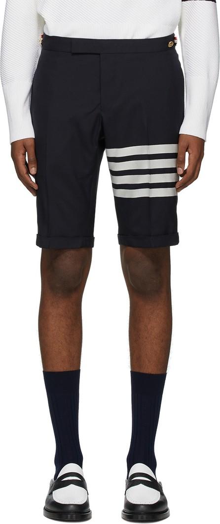 Thom Browne Navy 4-Bar Wool Shorts